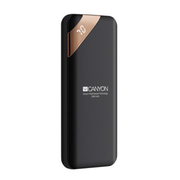 Външна батерия /power bank/ Canyon CPBP5B, 5000 mAh, черна, 2.1A/5V image