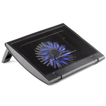 "Охлаждаща поставка за лаптоп NGS Turbostand, за лаптопи до 13.3"" (33.78 cm), 1 вентилатор, USB, черна image"