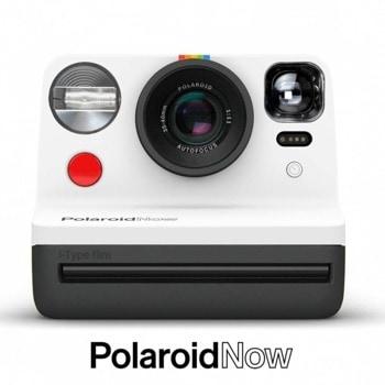 Фотоапарат Polaroid Now (черно-бял), моментални снимки, светкавица, с батерия, auto-focus, USB image