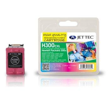 Глава за HP Deskjet D2560/ F4280-All in one - Color - CC644EE, HP300xl - Неоригинална - Jet Tec - Заб.: 18 ml image