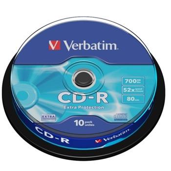 Оптичен носител CD-R, 700MB, Verbatim, 52x, 10 бр. image