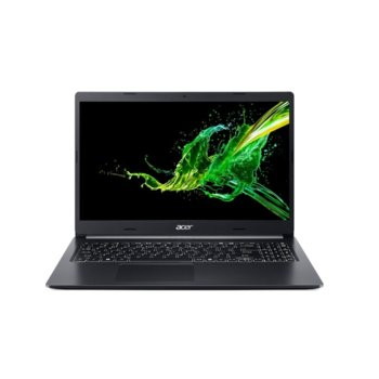 "Лаптоп Acer Aspire 5 A515-54G-58P0 (NX.HNFEX.002), четириядрен Comet Lake Intel Core i5-10210U 1.6/4.2 GHz, 15.6"" (39.62 cm) Full HD IPS Anti-Glare Display & GF MX250 2GB, (HDMI), 8GB DDR4, 512GB SSD, 1x USB 3.1, Linux image"