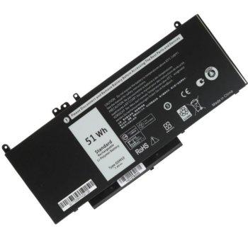 Батерия (заместител) за лаптоп Dell, съвместима с Latitude series, 4-cell, 7.4V, 6800mAh  image