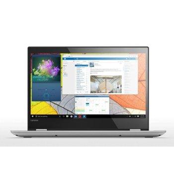 "Хибриден лаптоп Lenovo Yoga 520 (80X800M7BM)(сив), двуядрен Kaby Lake Intel Core i3-7100U 2.40GHz, 14"" (35.56 cm) Full HD IPS Touchscreen Display, (HDMI), 4GB DDR4, 256 GB SSD M.2, 1x USB 3.1 Type C, Windows 10 Home, 1.74 Kg image"