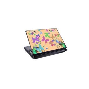 Декорация /скин/ Fullmark LS3001, за лаптопи до 26.7 x 39.37cm, екрю-Butterfly image