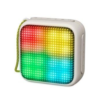 Тонколона Energy Sistem Beat Box 2+ Lightcube, 1.0, 5W RMS, Bluetooth, сив, до 6 часа работа, LED RGB подсветка image