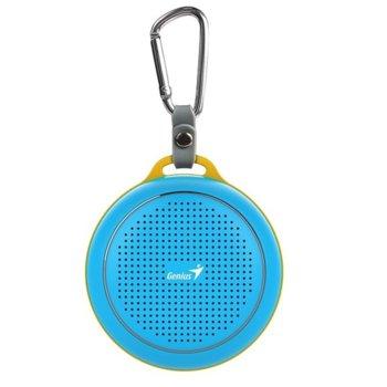 Тонколона Genius SP-906BT Plus, 1.0, 3W, Bluetooth 4.1, до 10м обхват, Micro-USB, синя image