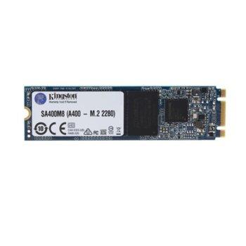 Памет SSD 240GB Kingston A400, SATA 6 Gbit/s, M.2 (2280), скорост на четене 500MB/s, скорост на запис 350MB/s image