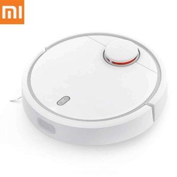 Прахосмукачка Xiaomi Mi Robot Vacuum, робот, безжична, 55 W, 0.48 л. капацитет на контейнера, до 150 мин. работа, бяла image