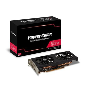 Видео карта AMD Radeon RX 5500 XT, 8GB, PowerColor AXRX 5500XT 8GBD6-DH/OC, PCI-E 4.0, GDDR6, 128bit, DisplayPort, HDMI, DVI-D image