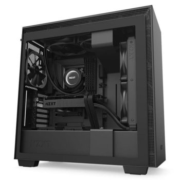 Кутия NZXT H710 Matte Black (CA-H710B-B1), ATX/Micro ATX/Extended ATX/Mini ITX, 1x USB 3.1 Gen 2 Type-C / 2x USB 3.1 Gen 1 Type-A, черна, без захранване image