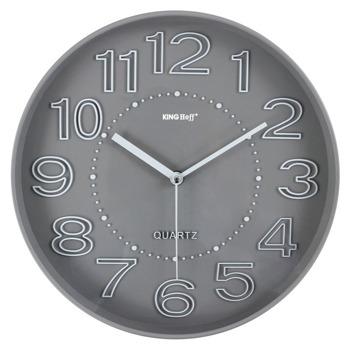 Часовник Kinghoff KH 1020, стенен, безшумен, 1х АА батерия, сив image