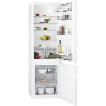 Хладилник с фризер AEG SCB618F3LS, клас F, 268 л. общ обем, свободностоящ, 272 kWh/годишно, Low Frost, Fast freeze, функция Frostmatic, бял image