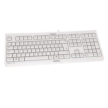 Клавиатура Cherry KC 1000 JK-0800EU-0, бяла, USB, без кирилизация image