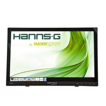 """Монитор Hannspree HT 161 HNB Touch, 15.6"""" (39.62 cm) TFT-LED панел, WXGA, 12ms, 40 000 000:1, 220cd/m2, HDMI, VGA, USB image"""