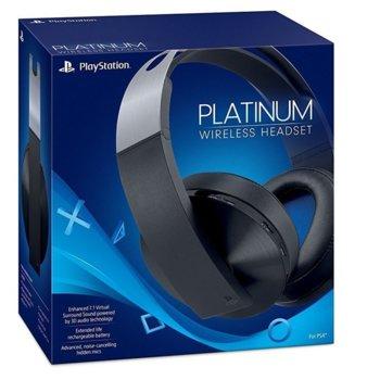 Слушалки PlayStation Platinum, безжични, микрофон, 7.1 съраунд, USB, черни image