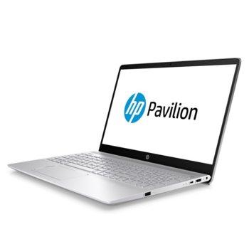 "Лаптоп HP Pavilion 15-cs2001nu (7JV74EA)(сребрист) с подарък HP слушалки 500 и мишка X3500, четириядрен Whiskey Lake Intel Core i5-8265U 1.6/3.9 GHz, 15"" (38.10 cm) FHD IPS Anti-Glare Display & GF MX250 4GB, 16GB DDR4, 512GB SSD, 1x USB 3.1, Free DOS image"
