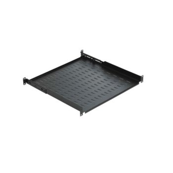 Тава Mirsan MR.HRM1U35.01, за комуникационен шкаф, 486x350x44, 30кг товароносимост, черна image