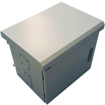 Комуникационен шкаф MIRSAN MR.MOB03.03 за CCTV оборудване - 625 х 530 х 480 мм, IP65, двойни стени, 2 вентилатора, бял image