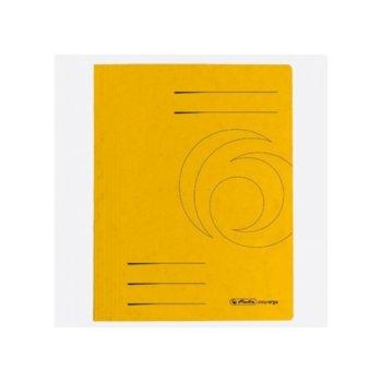 Папка от картон Herlitz Easyorga, с машинка, жълта image