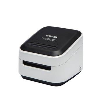Етикетен принтер Brother VC-500W, 313 dpi, 8 mm в секунда скорост на печат, 50 mm максимална ширина на етикета image