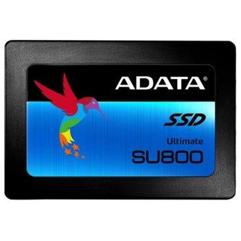 """Памет SSD 1TB A-Data SU800 3D NAND, SATA 3/6Gb/s, 2.5""""(6.35 cm), скорост на четене 560MB/s, скорост на запис 520MB/s image"""