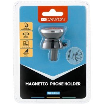 Магнитна стойка за телефон Canyon CNE-CCHM4, за кола, универсална, черен image