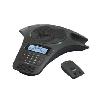 """Конферентна станция Alcatel Conference 1500, черно-бял LCD дисплей, 1 аналогова линия, вътрешен/външен обхват 300/50м, трансфер на разговори, бутон """"mute"""" image"""