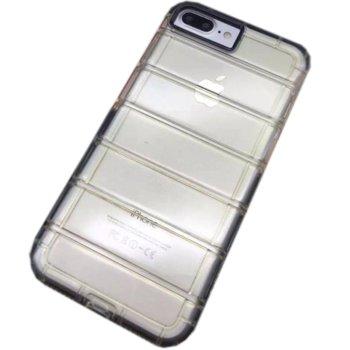 Силиконов протектор DeTech за iPhone 7/7S, сив, Ultra thin image