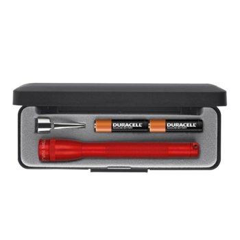 Фенер Mini MAGLITE M3A032, 2 батерии AAA, 9 lm, водоустойчивост, червен image