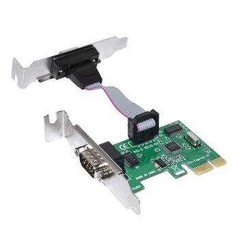 Контролер Макки, от PCI-E(м) към 2x Serial port (DB-9)(м) image