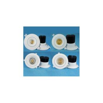 LED луна за вграждане, ORAX LDL-COB-125B-7W-WW, 7W, AC 220V, 630lm, Неутрално бяла image
