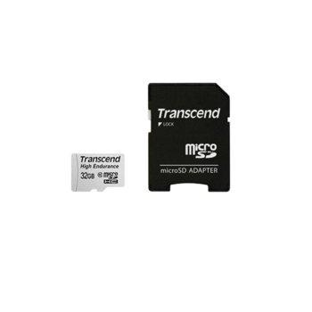 Карта памет 32GB microSDHC Transcend TS32GUSDHC10V, Class 10 UHS-I U1, скорост на четене 21 MB/s, скорост на запис 20 MB/s, с адаптер image