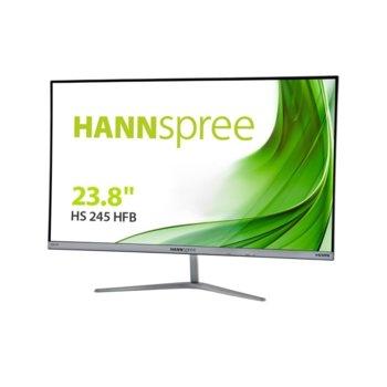 "Монитор Hannspree HS245HFBREO, 24"" (60.96 cm) IPS панел, Full HD, 5ms, 80000000: 1, 250cd/m2, HDMI, VGA image"