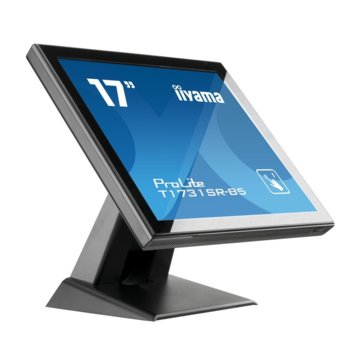 "Монитор Iiyama PROLITE T1731SR-B5, 17"" (43.18 cm) TN сензорен панел, SXGA, 5ms, 1000:1, 250 cd/m2, Display Port, HDMI, VGA, IP54 защита image"