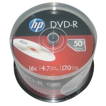 Оптичен носител DVD-R 4.7Gb, HP DME00025-3, 16x, 50 бр. image