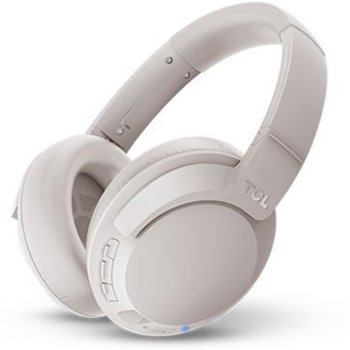 Слушалки TCL ELIT400BTWT-EU, безжични (Bluetooth 5.0), микрофон, 40мм говорители, контрол на звука, до 30 часа време на работа, сгъваеми, сиви image