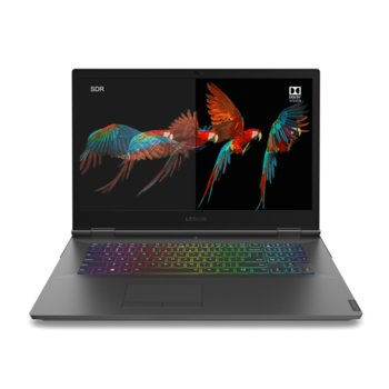"Лаптоп Lenovo Legion Y740-17IRHg (81UJ006LBM), шестядрен Coffee Lake Intel Core i7-9750H 2.6/4.5 GHz, 17.3"" (43.94 cm) Full HD IPS 144Hz Display & RTX 2070 Max-Q 8GB, (mDP), 16GB DDR4, 1TB SSD, 1x Thunderbolt 3, Free DOS image"