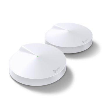 Wi-fi система TP-Link Deco M5 AC1300 (2-pack), 2.4 GHz (400 Mbps)/5GHz (867Mbps), Wireless AC, 4x 10/100/1000, 4 вътрешни антени image