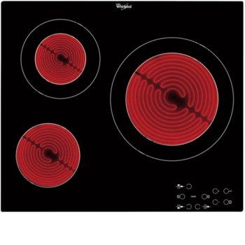 Стъклокерамичен плот за вграждане WHIRLPOOL AKT 8030 NE, 5700W, индикатор за остатъчна топлина, тъч управление, черен image