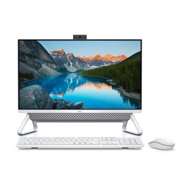 "All In One компютър Dell Inspiron 5490 (5397184373293), четириядрен Comet Lake Intel Core i7-10510U 1.8/4.9 GHz, 23.8"" (60.45cm) Full HD Anti-Glare Display, 8GB DDR4, 512GB SSD & 1TB HDD, 3x USB 3.1, клавиатура и мишка, Windows 10 Pro image"