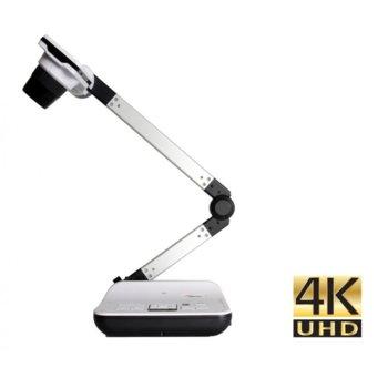 Камера за документи/презентатор Optoma DC554, 13 Mpix камера(30FPS)(3840x2160 изходна резолюция), вградени микрофон и говорител, 544x общо увеличение, microSD слот, HDMI, VGA, USB image