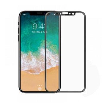 Протектор от закалено стъкло /Tempered Glass/ за iPhone X, Черен, дебелина 0.3mm image