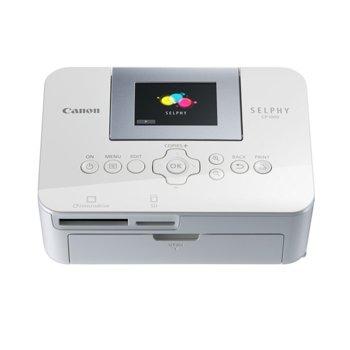 """Мобилен принтер Canon SELPHY CP1000(бял), цветен термосублимационен фотопринтер, 300 x 300 dpi, 6.8 cm (2.7"""") цветен TFT дисплей, SDXC слот, miniUSB Type B, пощенска картичка 148x100mm  image"""