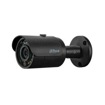 """IP камера Dahua IPC-HFW1230S-0280B-B, насочени (""""bullet"""") камери, 2Mpx (1920x1080@25fps), 2.8mm обектив, H.265+/H.265/H.264+/H.264, осветеност (до 30m), външна, IP67, RJ-45 image"""