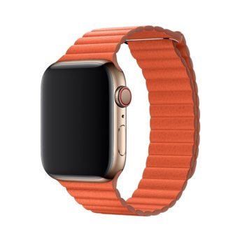 Каишка за смарт часовник Apple Watch (44mm) Sunset Leather Loop - Large (Seasonal Spring2019), оранжева image