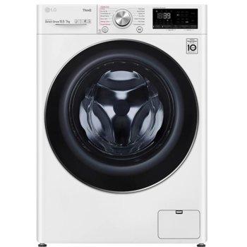 Пералня със сушилня LG F4DV710S2E, 10.5 кг. капацитет пералня/7 кг. капацитет сушилня, 1400 оборота в мин, 14 програми на пране, свободностояща, 60сm ширина, TurboWash 360, AI DD, LG ThinQ, бяла image