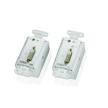 KVM екстендър ATEN VE606, от 1x DVI-D(ж), 1x 3.5мм жак(ж) към 1x DVI-D(ж), 1x 3.5мм жак(ж) чрез Cat 5e(2x RJ-45) кабел до 60м с 1080i резолюция, 2 устройства image