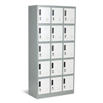 Гардероб Carmen CR-1245 J LUX, 15 бр. шкафове, метален, сив image
