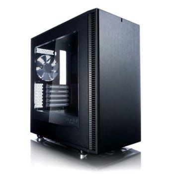 Кутия Fractal Design Define Mini C, Micro ATX/ITX, 2x USB 3.0, прозорец, черна, без захранване image
